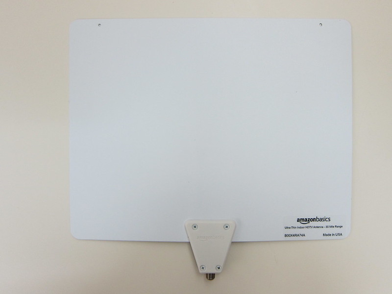 AmazonBasics Ultra Thin Indoor TV Antenna - Back
