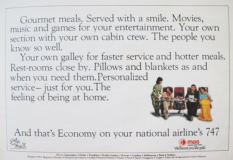 malaysia airlines b747 print ad