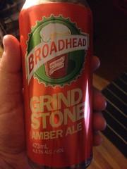 Beersperiment: Broadhead Grindstone Amber Ale (Ottawa, Ontario) @halyma: 3* me: 3*