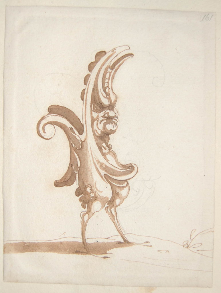 Arent van Bolten - Monster 161, from collection of 425 drawings, 1588-1633