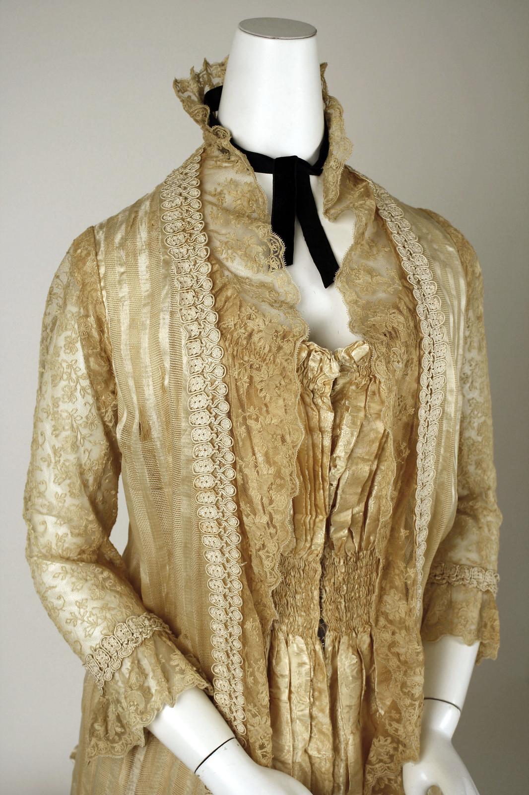 1880s Tea Gown. American. metmuseum