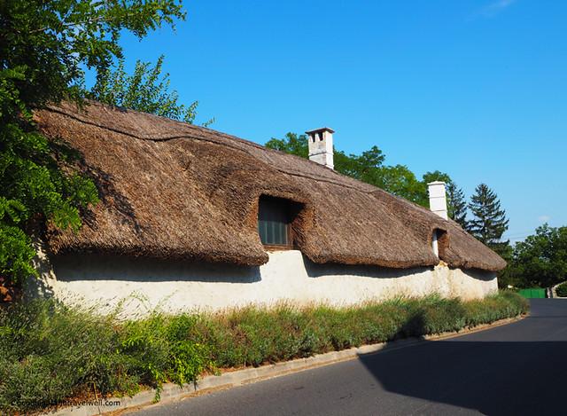 Case con i tetti di paglia a Kekkut