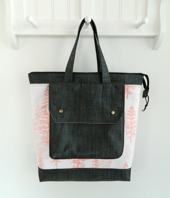 Nightfall Canvas & Denim Jenna Tote