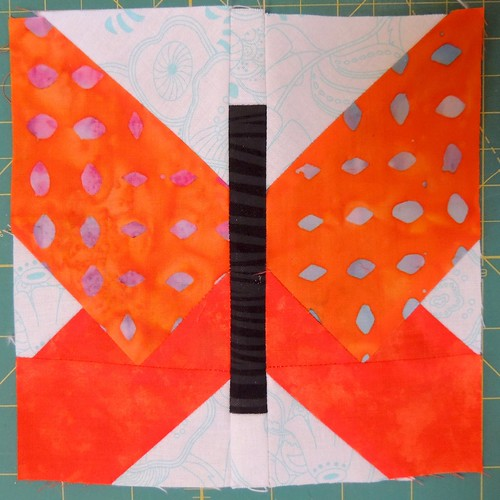 Traditionally Pieced Butterfly Block