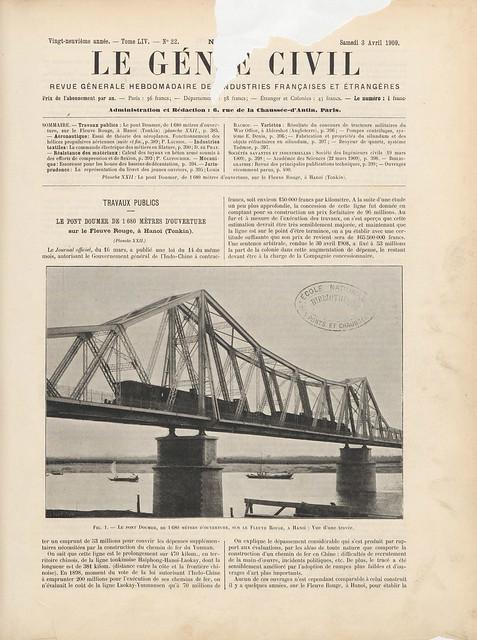 LE GÉNIE CIVIL 1909-04-03 (1) - CẦU LONG BIÊN
