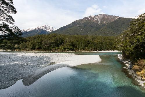 newzealand sunlight river bush rocks shade nz his southisland mtaspiringnationalpark bluepools beechforest makarorariver makaroravalley haastrd