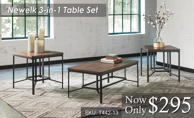 Newelk 3 in 1 Table Set