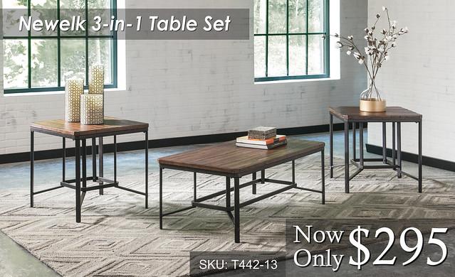Newelk 3 in 1 Table Set
