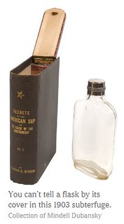 Fake book conceals flask