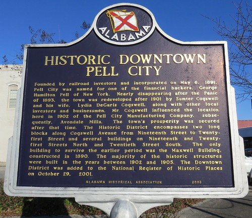 Historic Downtown Pell City Marker (Pell City, Alabama)