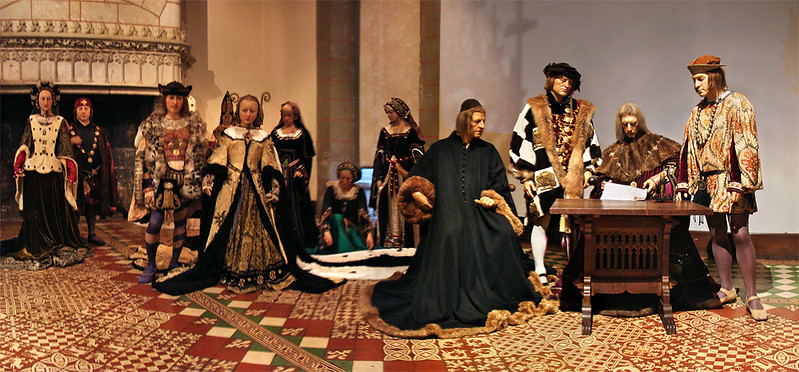 Waxwork reenactment from the marriage of Duchess Anne of Brittany and King Charles VIII of France
