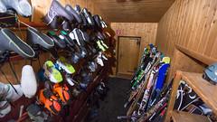 Suszarnia i narciarnia w schronisku Langtalerhütte 2450m