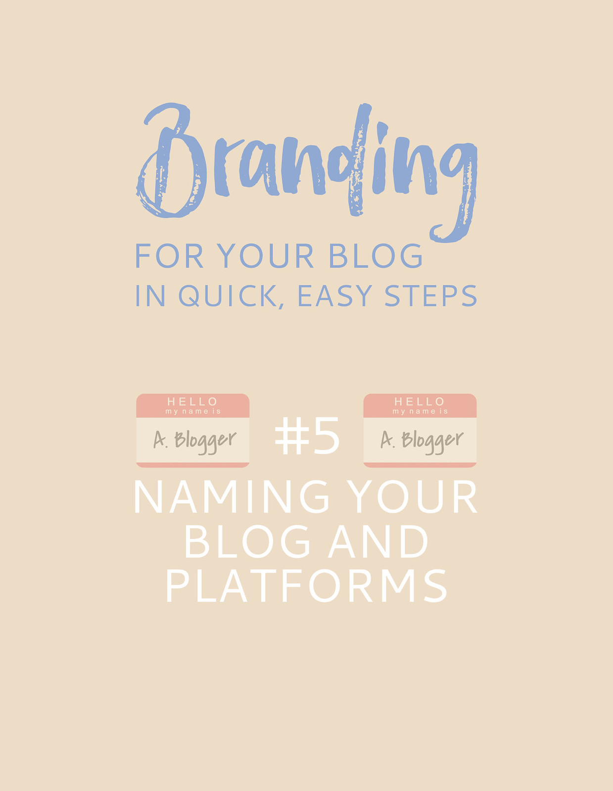 Blogging Tips | Branding For Your Blog in Quick, Easy Steps: 5. Naming Your Blog and Social Media Platforms