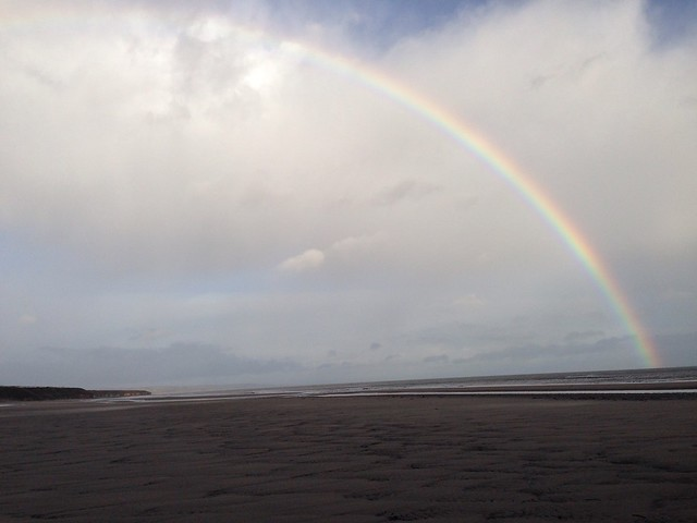 Rainbow over Crimdon Beach