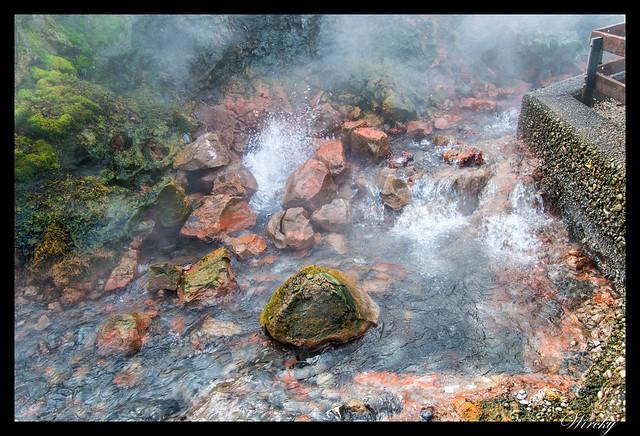 Manantial de la fuente termal Deildartunguhver
