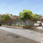 Artist's impression of John Birt Memorial playground from Berwick Lane