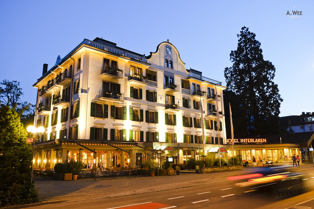 Hotel Interlaken at night