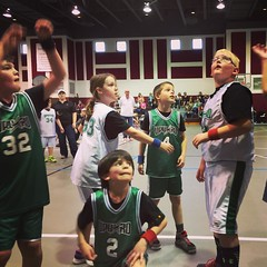 Enjoying a day of Upward basketball!
