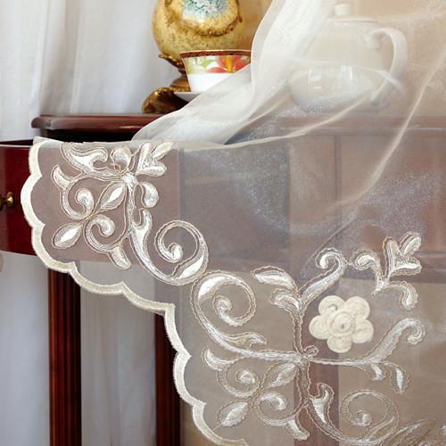 冷雪霜花 雅緻歐式古典 無接縫窗紗布 DB2390005