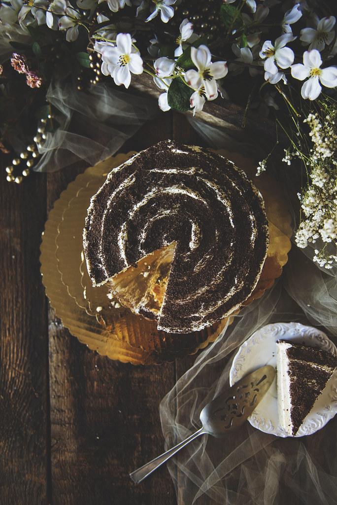Homemade Hazelnut Cake with Marshmallow Frosting | PasstheSushi.com