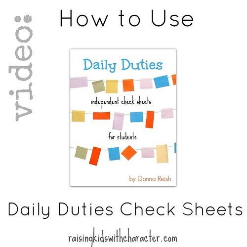 Video: How to Use the Daily Duties Check Sheets for Students