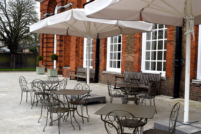 Outdoor Seating The Orangery, Kensington Palace | www.rachelphipps.com @rachelphipps