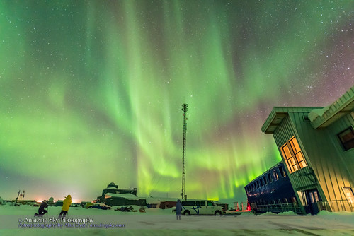 Aurora Behind Northern Studies Centre