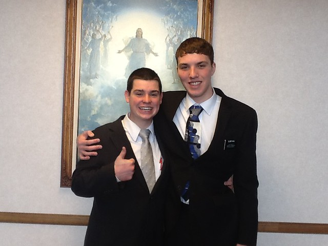 Elder Huffman and Elder Hall
