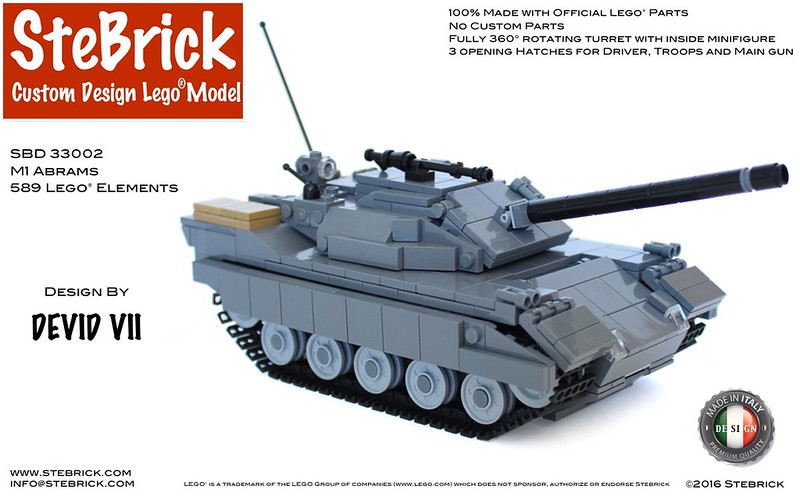 Lego Moc 4591 M1 Abrams Technic 2016 Rebrickable Build With Lego