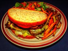 Double Muenster Mushroom Burger