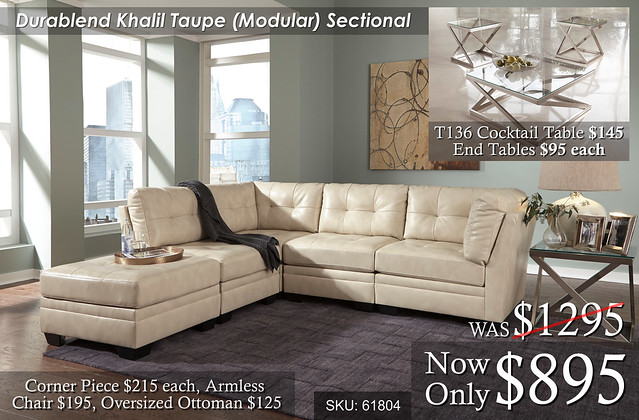Khalil Taupe Modular Sectional