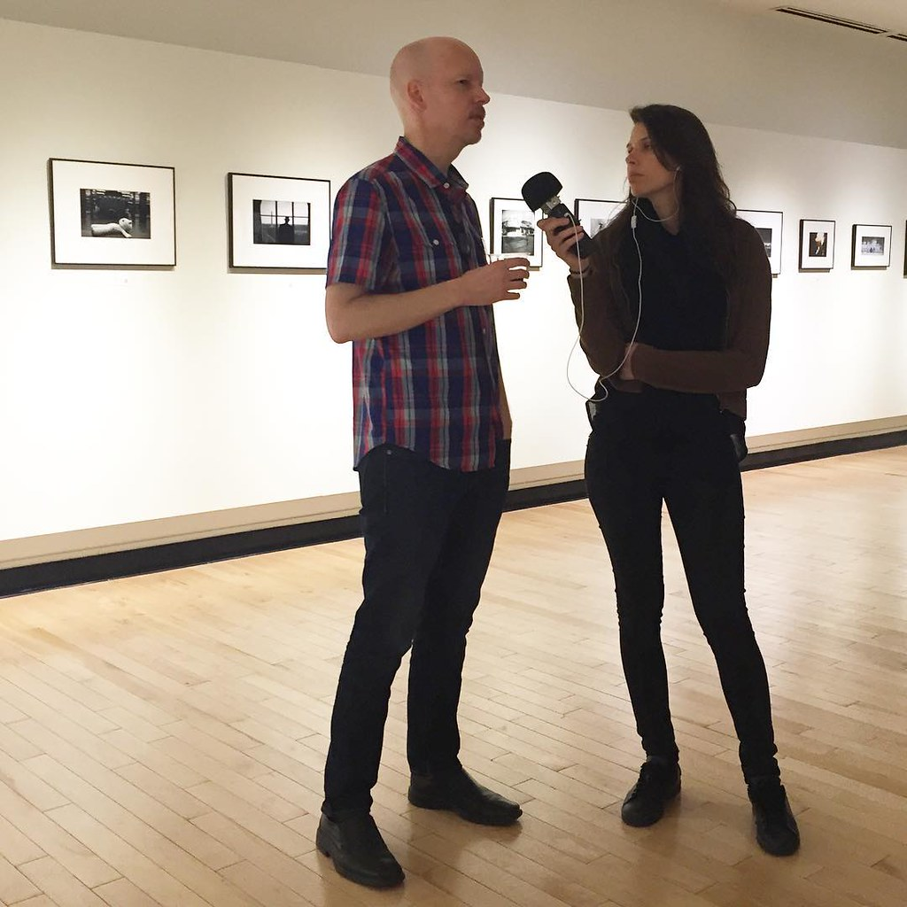 Who knew @shutterhugdc spoke such good French? Here he is being interviewed by a French broadcaster about the Exposed show.