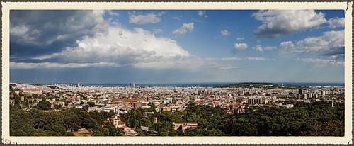 barcelona stormysky urbanphotography panorámica fotografíaurbana cielodetormenta miradordesarrià