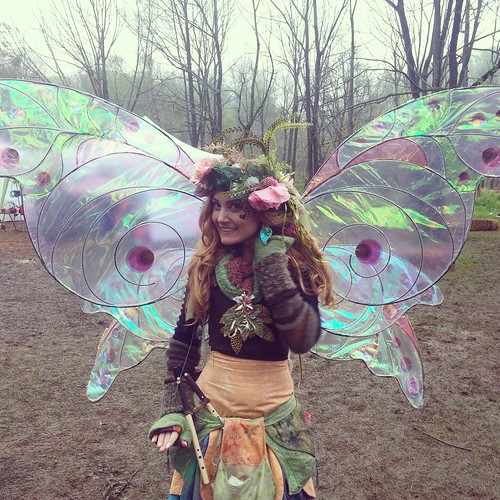 Twig the Fairy in her Sihaya Designs Faery Wing Earrings