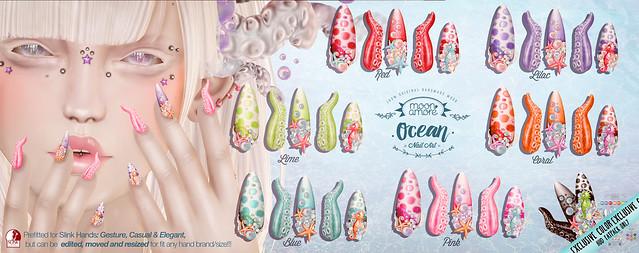 :Moon Amore: Ocean Nail Art