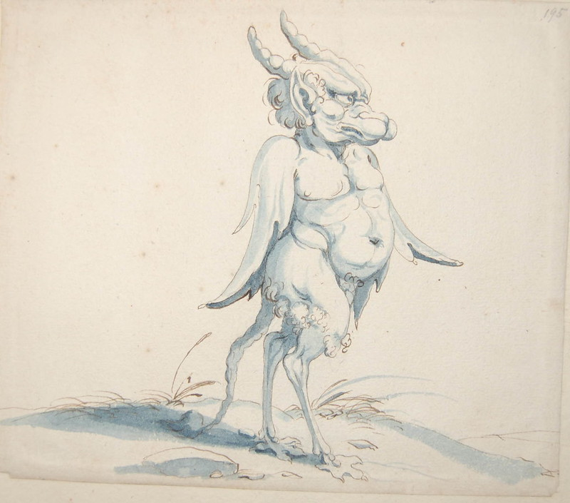 Arent van Bolten - Monster 195, from collection of 425 drawings, 1588-1633