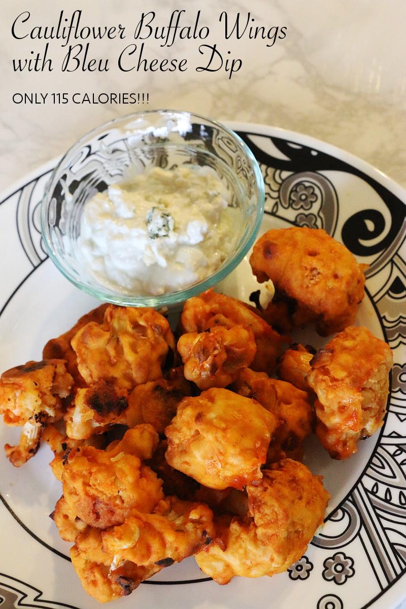cauliflower buffalo wings recipe, bleu cheese dip, cooking, healthy eating, low calories