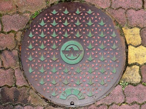 Tsubata Ishikawa, manhole cover 4 (石川県津幡町のマンホール4)