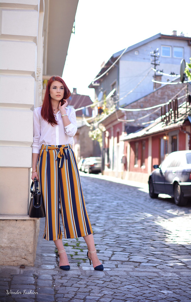 stripped culottes