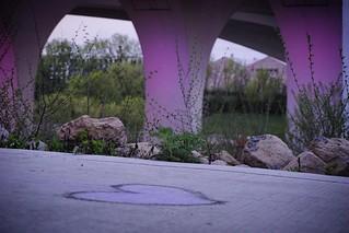 A purple heart under a purple bridge for Prince. 4/23/16