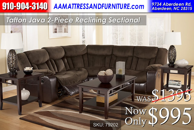 Tafton Java 2 Piece Sectional RWB