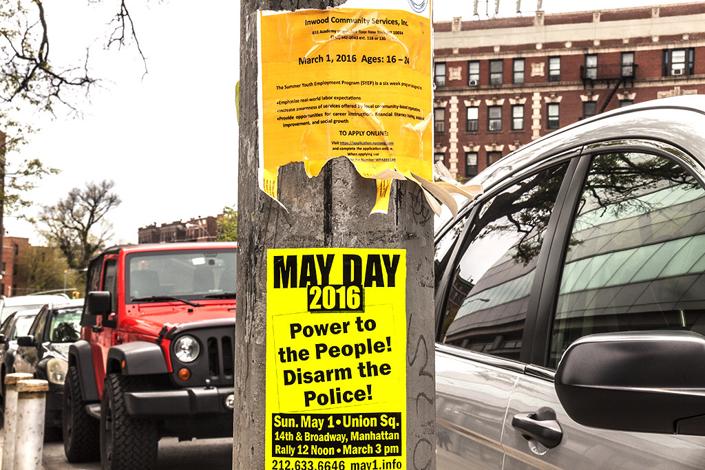 May Day flyer--Washington Heights