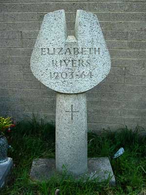 Memorial for artist, Elizabeth Rivers