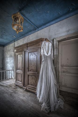 The wedding dress...