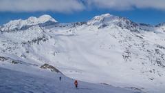 Podejście lodowcem Niederjochferner w kierunku szczytu Similaun (3599m)