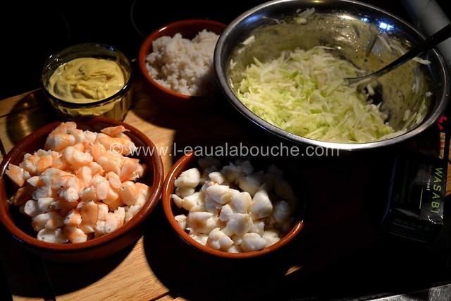 Tartare de Crabe-Crevettes-Granny & Céleri au Wasabi  © Ana Luthi Tous droits réservés 04