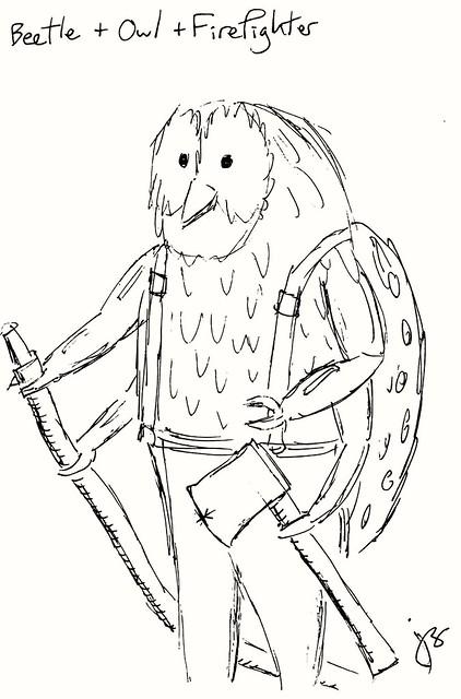 Beetle + Owl + Firefighter
