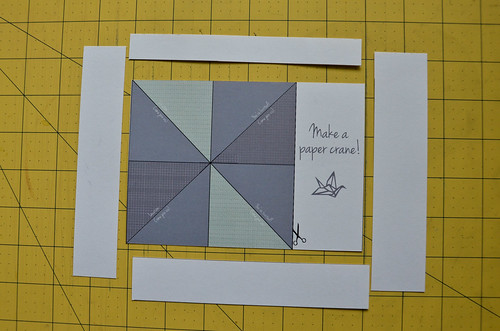 Step 4. Cut postcard out of cardstock