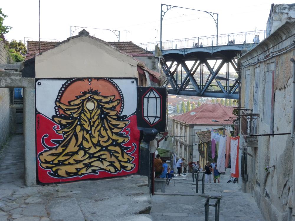 street art on stairway