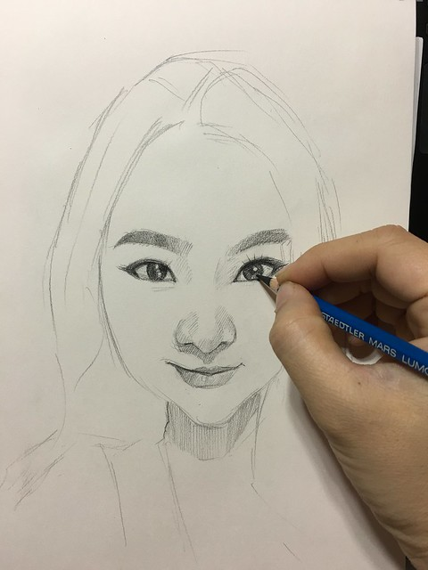 Lady portrait in pencil